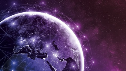 Global network around the earth