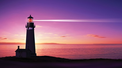 Lighthouse with search light