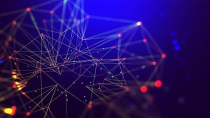 3D illustration of global network