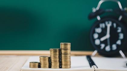 Step Coins Stacks Alarm Clock