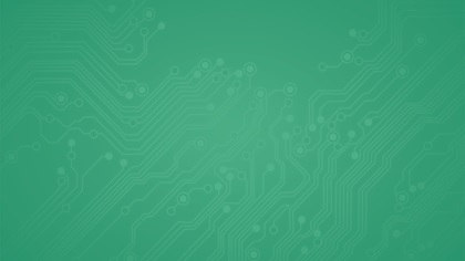 Green background with technology markings