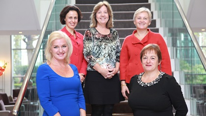 Women in Treasury London Forum 2013 panellist group photo
