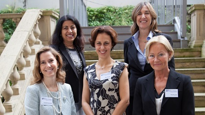 Women in Treasury London Forum 2014 panellist group photo