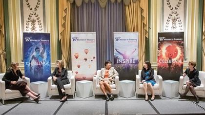 Women in Treasury New York Forum 2018 panel on stage