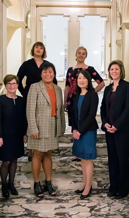 Women in Treasury New York Forum 2018 panel group photo