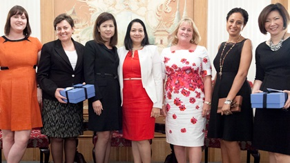 Women in Treasury Singapore Forum 2015 panellist group photo