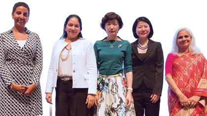 Women in Treasury Singapore Forum 2016 panellist group photo