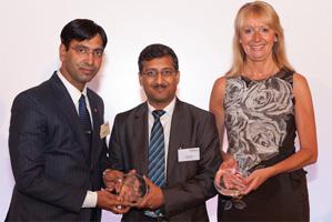 Photo of Manish Kapoor and Alok Bafna from Bharti Airtel and Barbara Harrison, Citi