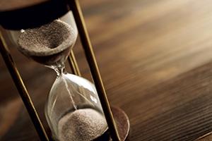 Photo of an hourglass