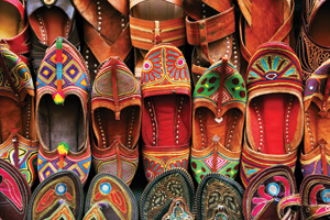 Indian traditional slipper shoes