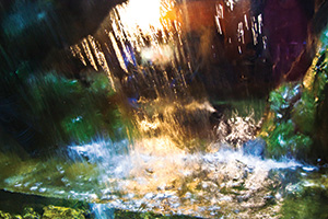 Abstract waterfall flowing down