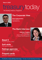 treasurytoday Magazine March 2009 cover