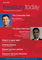 treasurytoday Magazine April 2009 cover