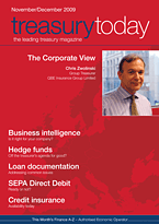 treasurytoday Magazine November/December 2009 cover