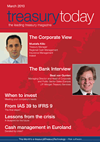 treasurytoday Magazine March 2010 cover