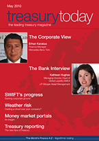 treasurytoday Magazine May 2010 cover