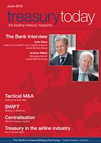 treasurytoday Magazine June 2010 cover