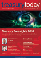 Treasury Foresights September/October 2016 magazine cover