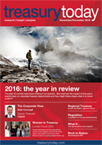 Treasury Today November/December 2016 magazine cover