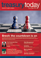 Treasury Today March/April 2018 magazine cover