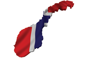 Map/flag of Norway